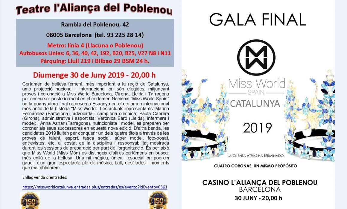 30 de juny 19 miss catalunya Espectacle al Casino Aliancça a Poblenou