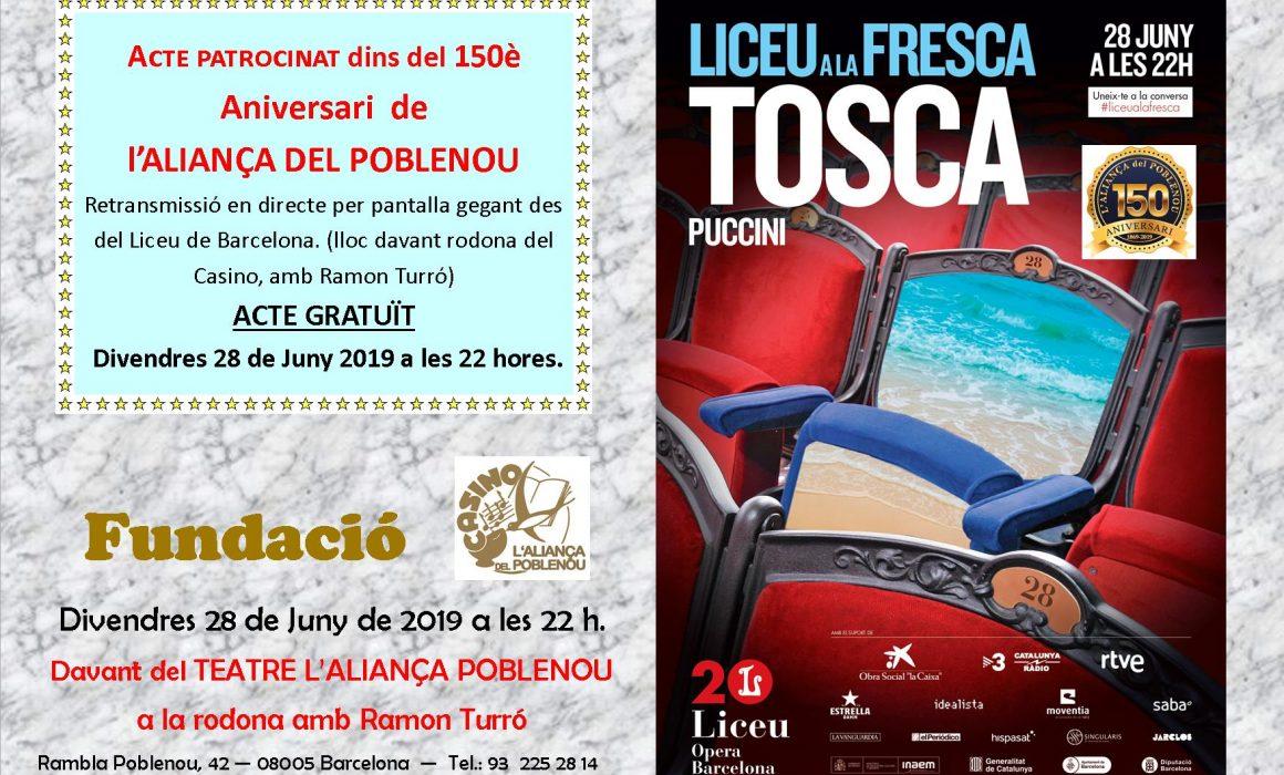 tosca liceu a la freesca Espectacle al Casino Aliancça a Poblenou