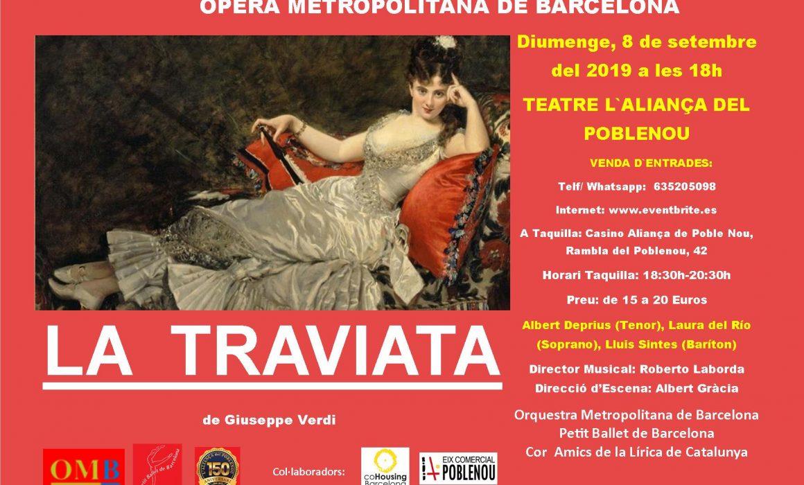 la traviata Espectacle al Casino Aliancça a Poblenou